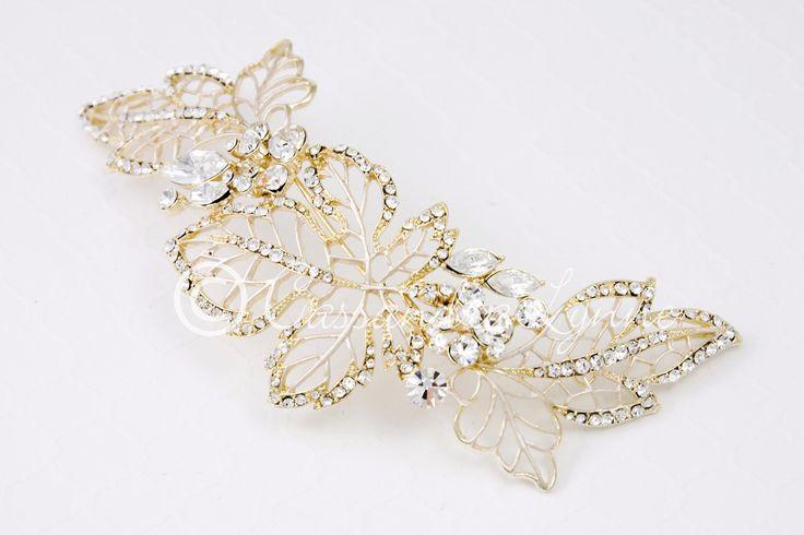 Wedding Headpiece in Gold Leaf Design