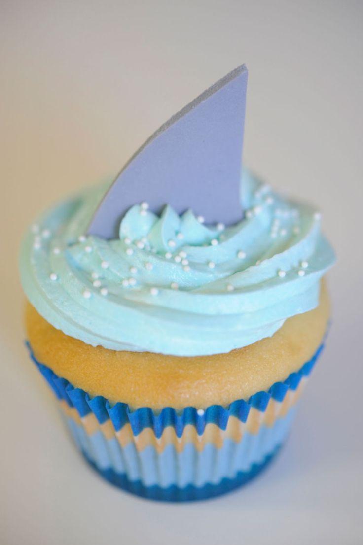 Shark Bite Cupcakes | Cupcakes & Cashmere