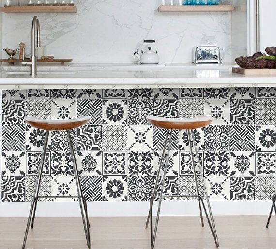 Tile Decals Tiles for Kitchen/Bathroom Back by SnazzyDecal