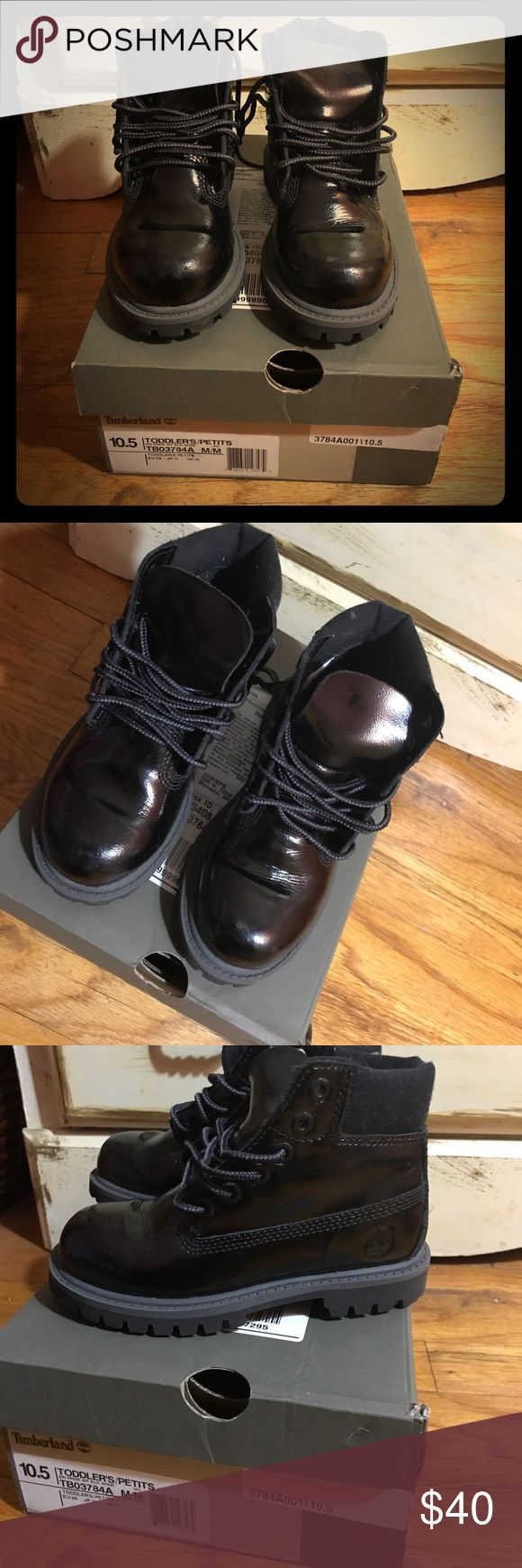 Kids All-Weather Timberland Boots All black all-weather timberland boots. In great condition with minor flaw on left boot, there is a scuff mark on front left boot (as shown in photo). Comes in it's original box. Great for kids to wear in rain & snow. Timberland Shoes Boots