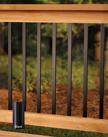 "metal deck spindles | Deckorators 32"" Traditional Deck Balusters 10pk - Black"