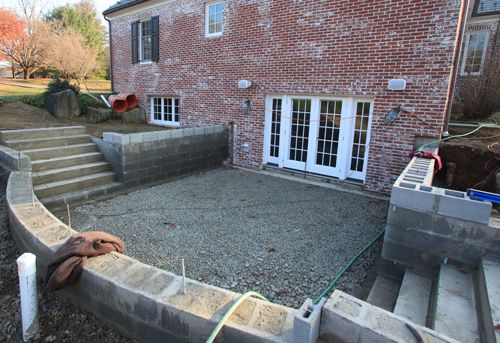 Retaining Wall For A Walkout Basement