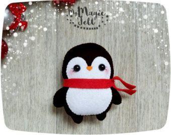 Adornos navideños fieltro adorno que Navidad fieltro que decoración grande conjunto Linda Navidad favorece adornos árbol de Navidad regalo de Navidad por MyMagicFelt