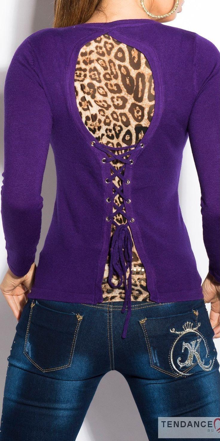 Pull 2en1 tendance CORALINE couleur mauve – Tendance Fashion votre boutique en ligne de vêtements femme, tendance, fashion, sexy au style original, toute la mode est sur www,tendancefashion,fr