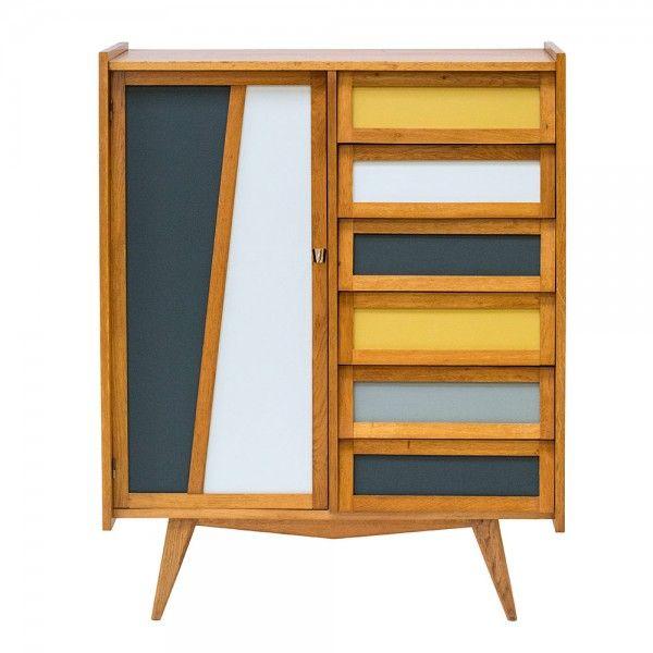 Armoire ann es 50 bahia meuble customis mobilier de salon peindre meuble bois et - Peindre meuble contreplaque ...