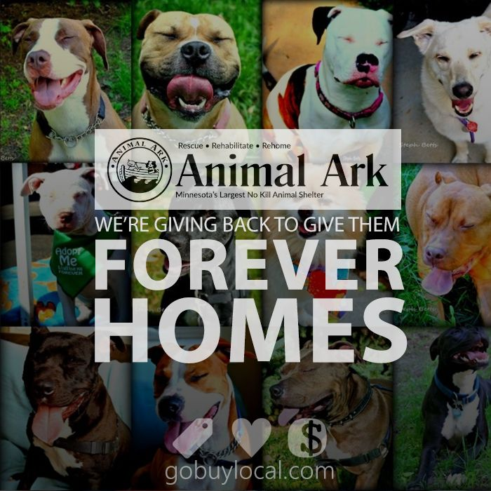 We're #givingback to Animal Ark, MN's largest #nokill #animalshelter, to give #dogs & #cats forever homes! Help us give more, use our #free #deals, #buylocal, & we #giveback - that's it! #hastings #mn #dogood