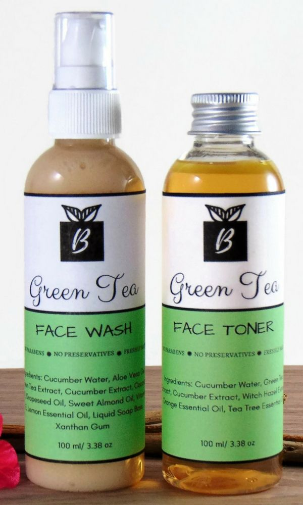 Skincare Set with Green Tea