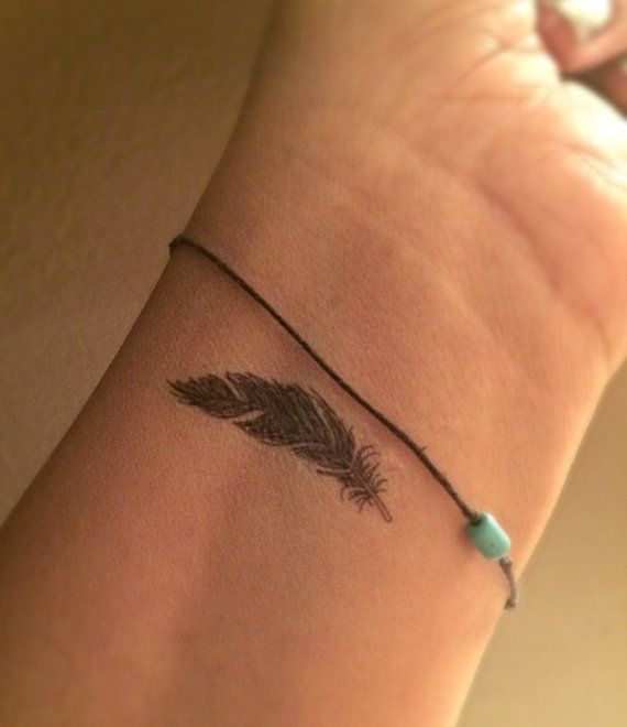SALE Feather Temporary Tattoo Tiny / Fake Tattoos / Set by Junylie