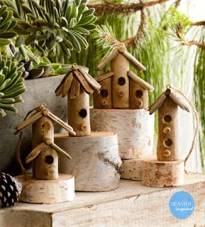Seaside Inspired - Beach Decor: Driftwood Christmas Decor for a natural, beach style Christmas