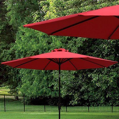 Large Outdoor Umbrella Patio On Sale Clearance Table Steel Push Button Modern