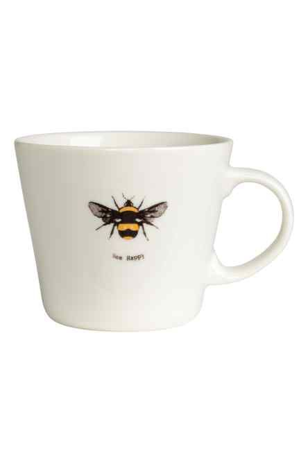 Porcelain mug with motif