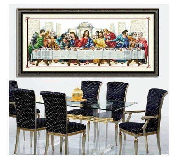 Напечатаны наборы для вышивания крестиком тайная вечеря иисус христос религия с инструментами темы иглы Diy хлопок шелк нить, принадлежащий категории Швейные наборы и относящийся к Для дома и сада на сайте AliExpress.com   Alibaba Group