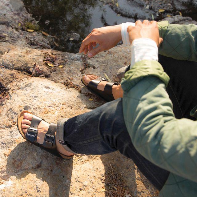 birkenstock arizona brown mens