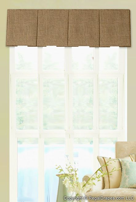 Inverted Pleat Valance   Featuring Clean Pleats And Simple Lines