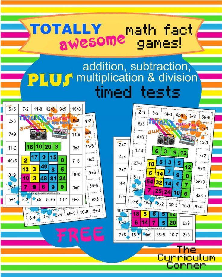 80-х годов тематические смешанные математические игры факты плюс сложение, вычитание, умножение и деление тестов на свободный от угла учебного плана