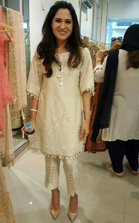 Pakistani designer Sania Maskatiya in her own design.