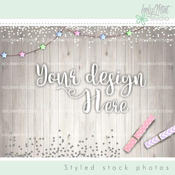 Styled Photo - Star Background - Mock Up by www.HolyMintStudio.Etsy.com