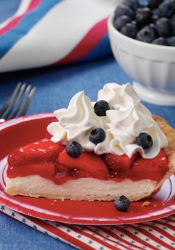 Show off America's true colors with this Berry Patriotic Pie from Inspired Gathering! Filled with cream cheese, strawberries, and fresh blueberries, this easy dessert recipe is sure to impress all of your 4th of July party guests.