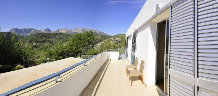 Balkon met prachtig zicht op de omgeving