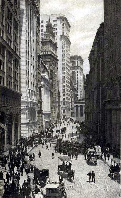 Wall Street at Nassau Street, NW Corner