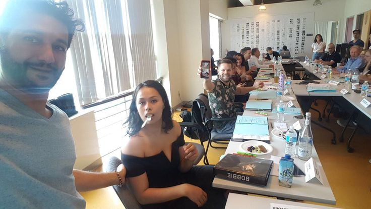 """Cas Anvar tells us """"This is why I called Bobby Draper (Frank Adams) """"Forkie"""" at the table read."""" Also think Cas got excellent capture on Wes Chatham (Amos Burton) """"Selfie Master"""". 😉"""