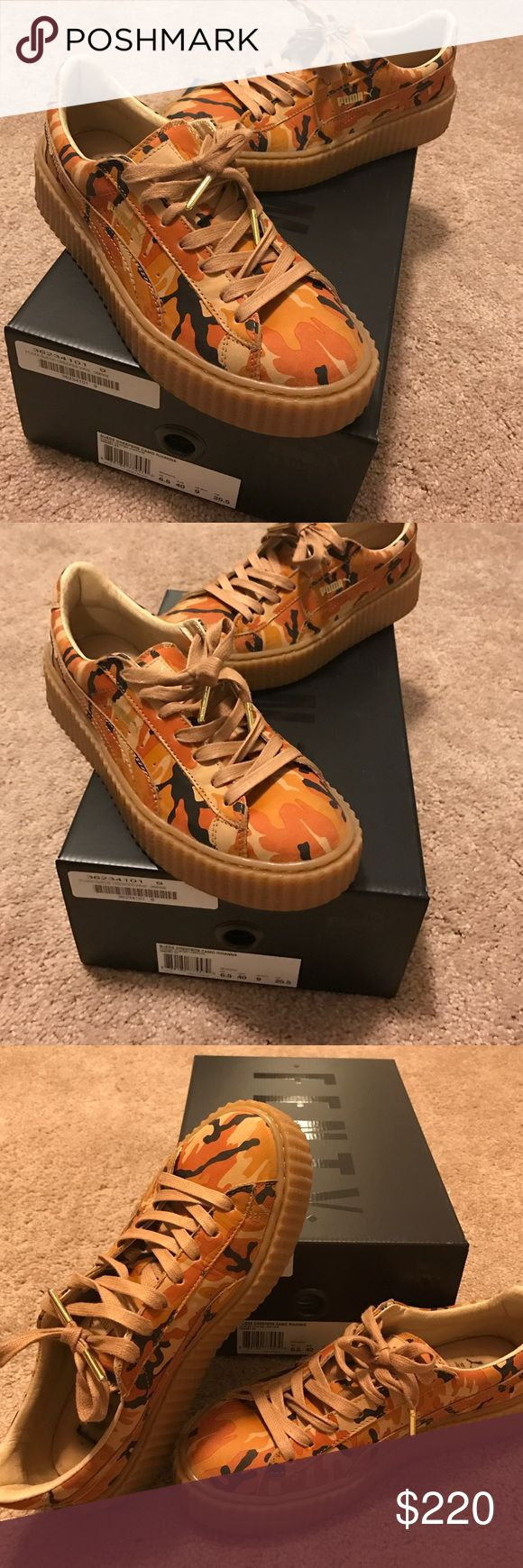 Suede Creepers Cama (RIHANNA) Suede Creepers Camo Rihanna/ Orange-Oatmeal Puma Shoes Sneakers