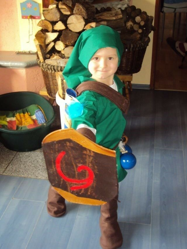 Young Link Costume Deku Shield Ocarina Of Time Zelda Cosplay Custom