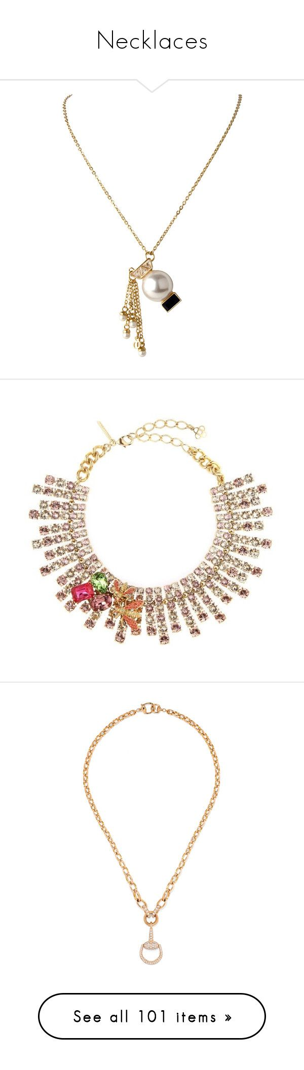"""""""Necklaces"""" by oh-aurora ❤ liked on Polyvore featuring jewelry, necklaces, charm necklaces, charm jewelry, chanel, accessories, apparel & accessories, gold, chanel necklace and chanel pendant"""
