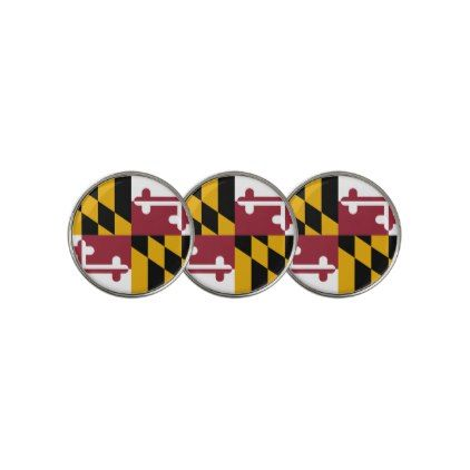 Golf Ball Marker with Flag of Maryland USA - elegant gifts gift ideas custom presents