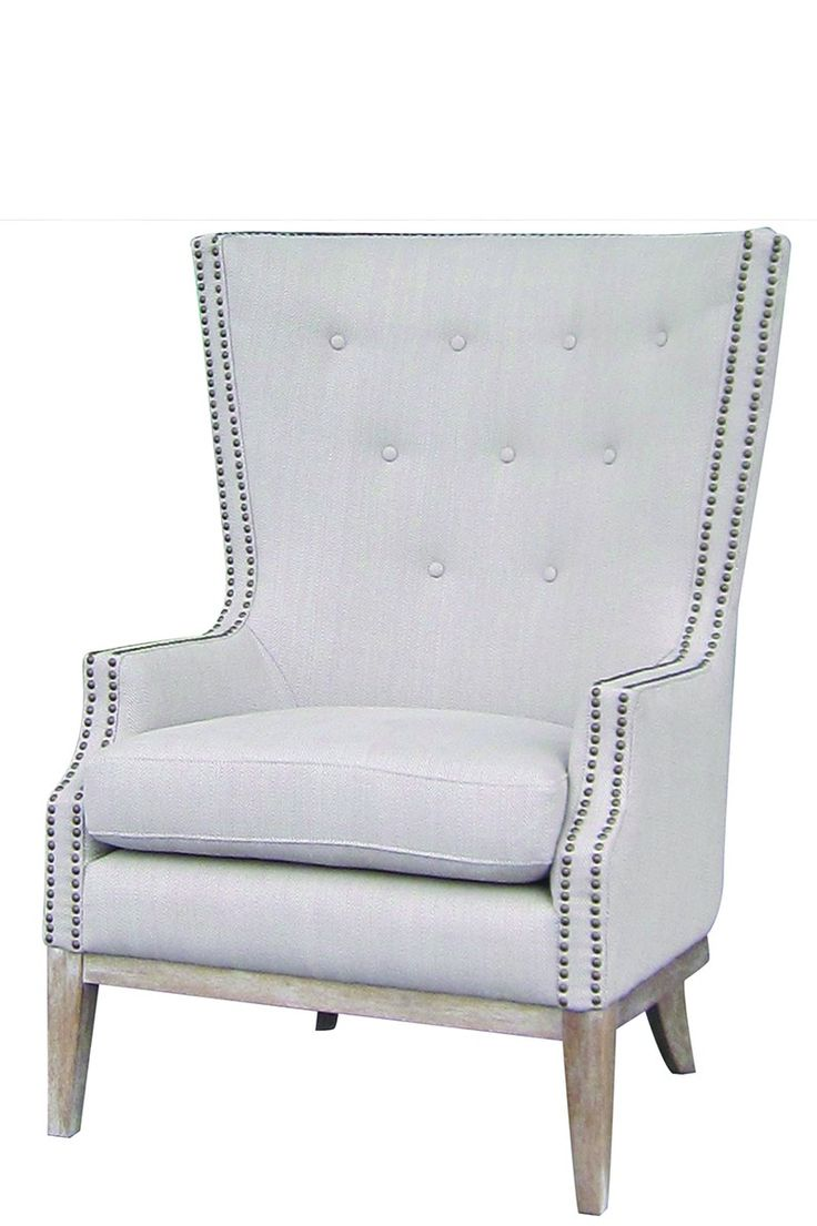 Chevron wing chairs - Reine Occasional Chair Wing Chairsgrey Chevronliving