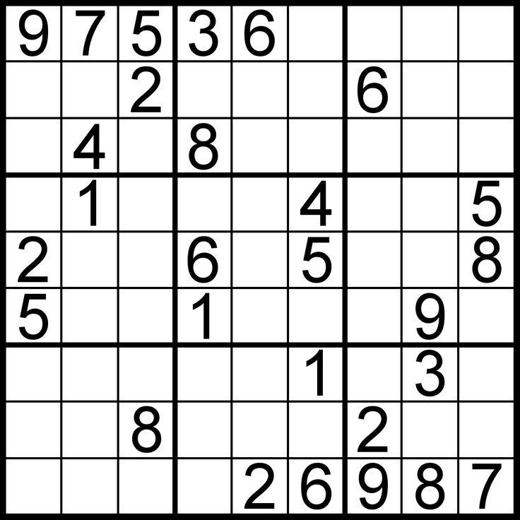 10 best images about sudoku puzzle on Pinterest   Brain ...