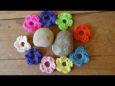 Απλό και όμορφο λουλουδάκι με βελονάκι - YouTube