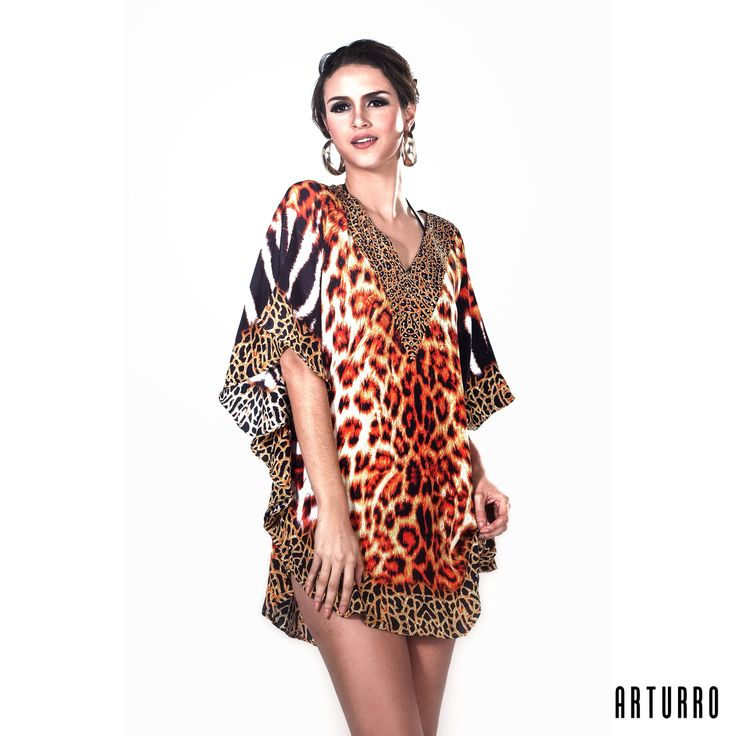 ARTURRO Resort Collection Animal Printed Tunic #kaftan #resortwear #womasfashion #resort # beach #beachwear #tunic #blouse