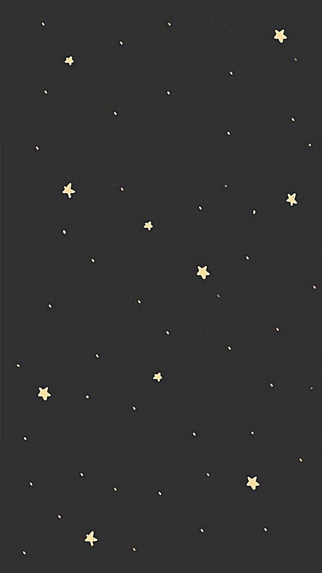 شقة خلفية سوداء نجوم Download Cute Wallpapers Wallpaper Space Cute Patterns Wallpaper