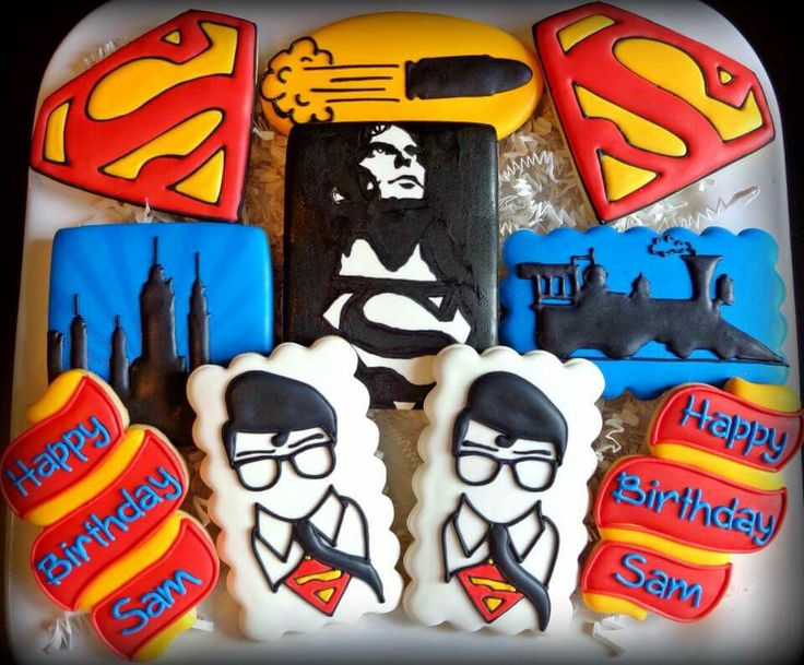 Jackie Williams Broome: Superman. Awesome cookie set!!!