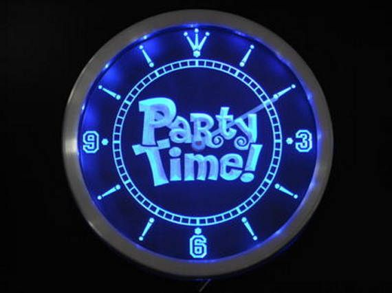 Glow In The Dark Party Supplies Neon Party Supplies LED Clock