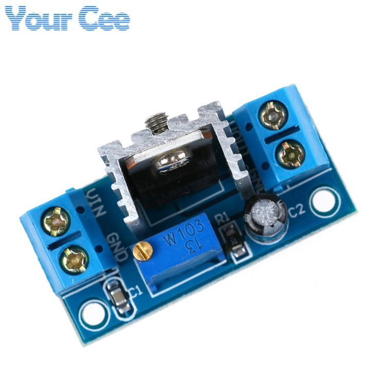 LM317 DC-DC Converter Buck Step Down Circuit Board Module Linear Regulator LM317 Adjustable Voltage Regulator Power Supply //Price: $0.75//     #storecharger