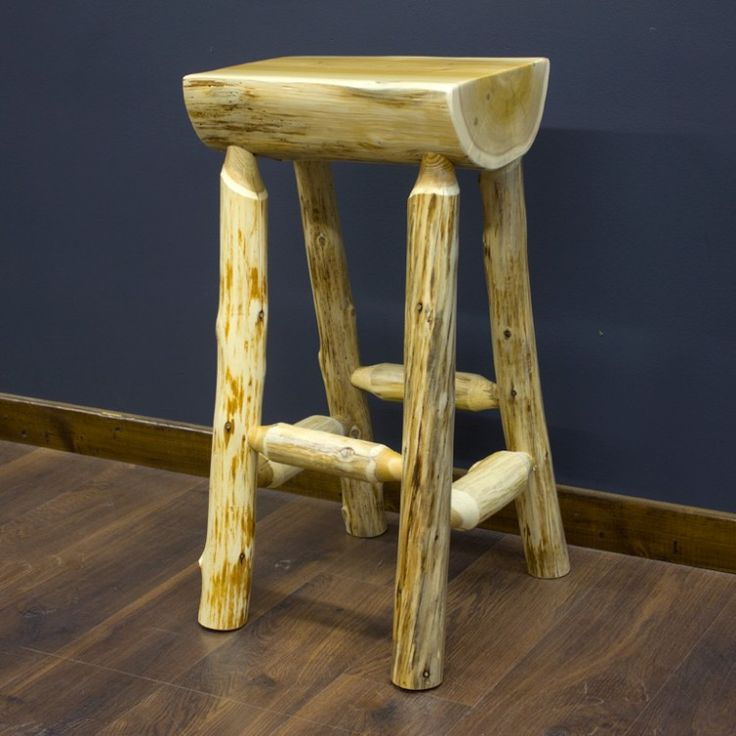 Cedar Lake Half Log Bar Stool Lakes Furniture And Bar