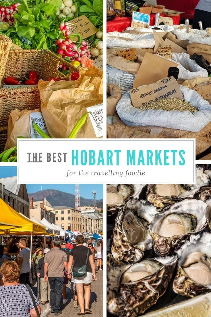 This is where you will find the best markets in Hobart for foodies. #Tasmania #Markets #Australia