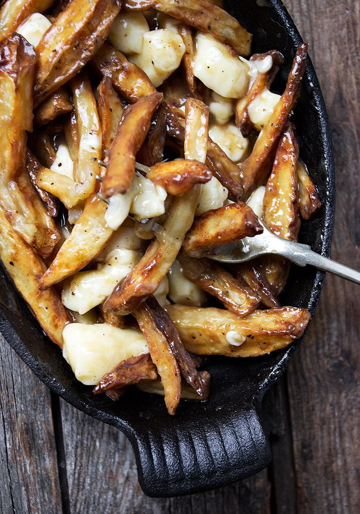 Authentic Canadian Poutine Recipe - fries, gravy and cheese curds. So good!!