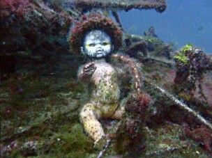 Abandoned Doll Under The Sea