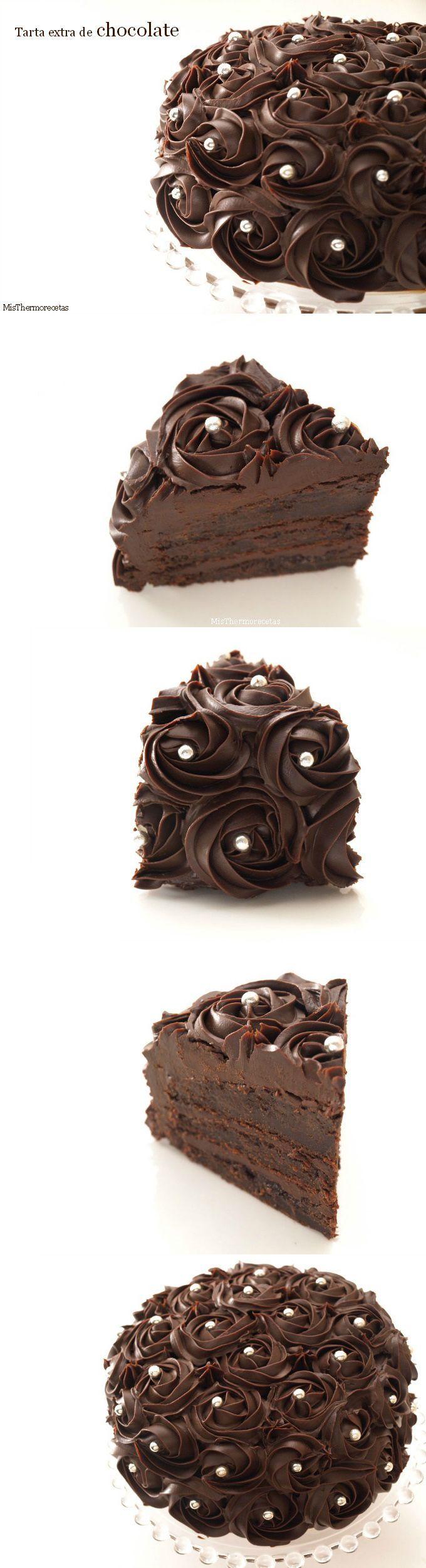 Tarta extra de chocolate (thermomix).
