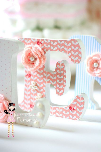 Letras de MDF pintadas e decoradas... | Flickr - Photo Sharing!                                                                                                                                                      Mais