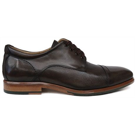 8451 Zapato blucher con puntera recta en piel color marrón de Ascroft |  Calzados Garrido