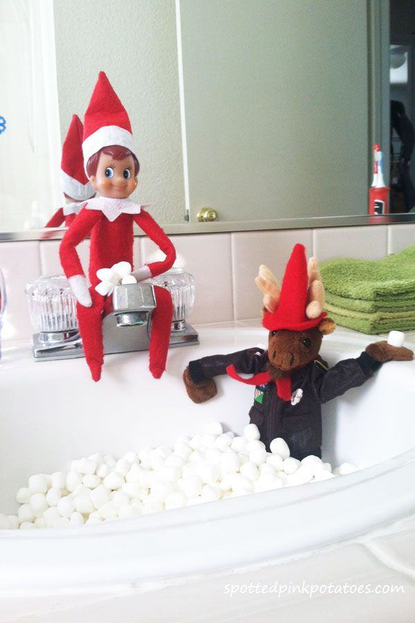 111 best elf on the shelf images on pinterest for Elf on the shelf bathroom ideas