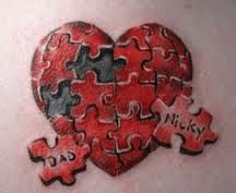 heart tattoos with names in them, like but would change some things