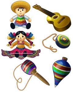 juguetes tipicos mexicanos para colorear