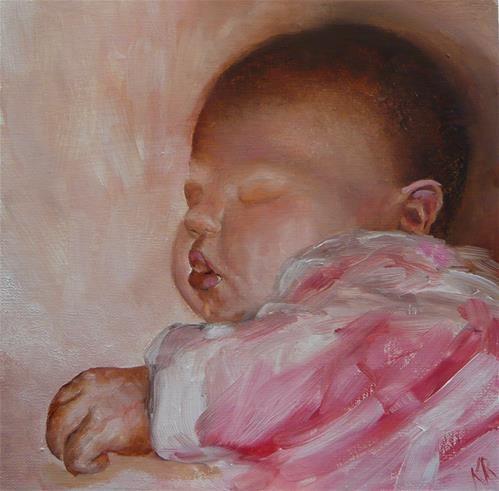 "Daily+Paintworks+-+""Baby+B""+-+Original+Fine+Art+for+Sale+-+©+Karen+Robinson"
