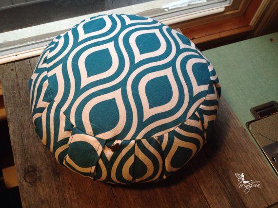 Korean Traditional Buckwheat Pillow : Meditation pillow zafu Cotton - Aquarius - buckwheat cushion with handle Organic yoga by ...
