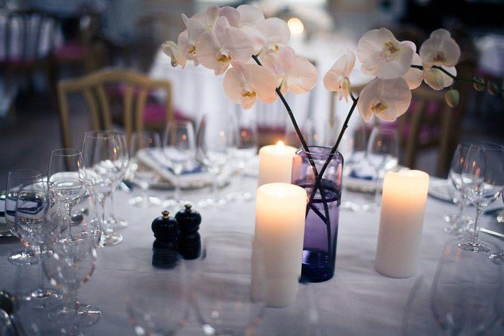 billede af bryllupsbord pynt